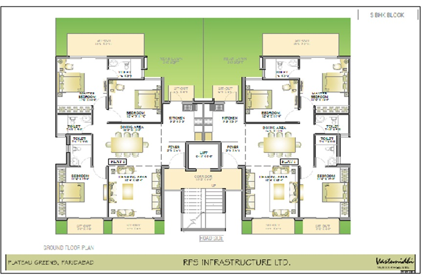 Floor Plan of RPS Plateau Faridabad